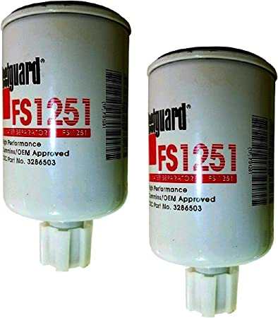 FS1242 Fleetguard Fuel//Water Sep Spin-On Pack of 2