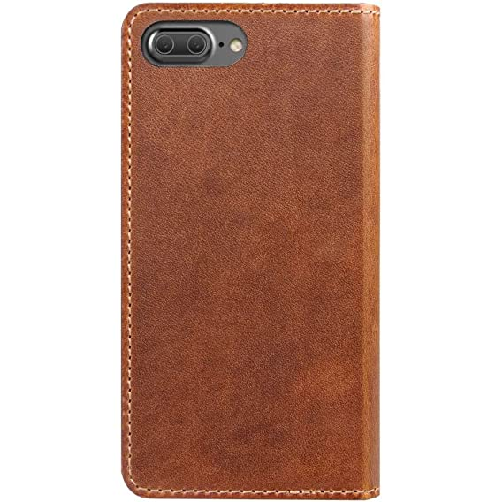finest selection 1eea2 bc99e Nomad Horween Leather Folio Case for iPhone 7 Plus - With Cards and Cash  Pockets - Rustic Brown
