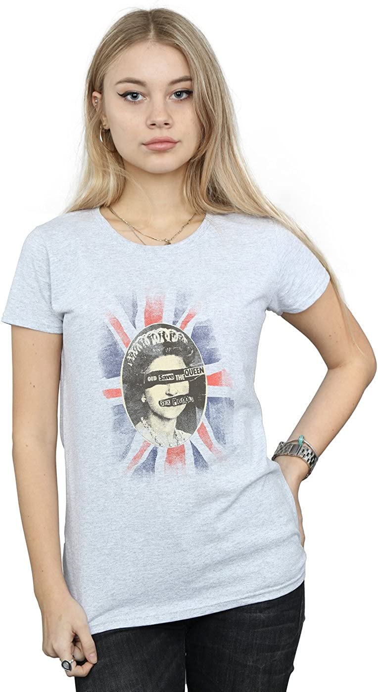 Absolute Cult Sex Pistols Mujer God Save The Queen Camiseta