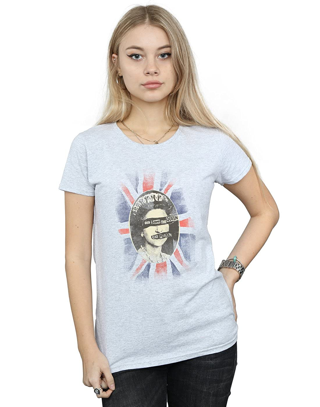 TALLA XL. Absolute Cult Sex Pistols Mujer God Save The Queen Camiseta