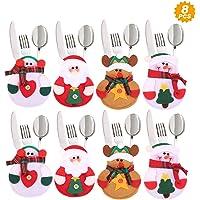 Aitsite 8 Piezas Navidad Cocina Cubiertos Cuchillo Tenedor