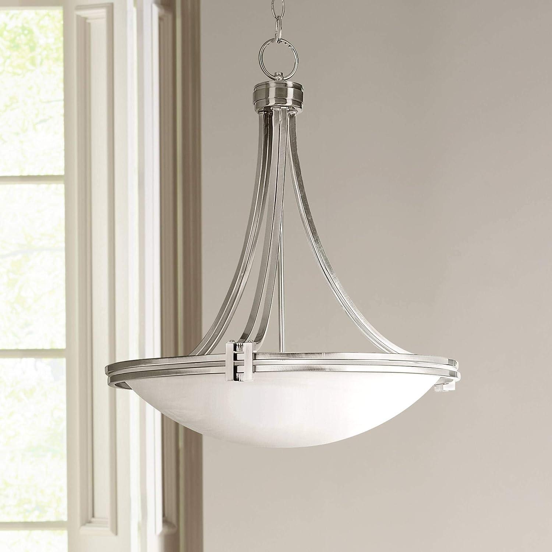 "Possini Euro Design Deco Nickel 21 1/2"" Wide Pendant Light"