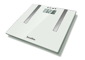 Terraillon báscula de baño electrónica, analizador de grasa corporal, ultrafino, 8 usuario recuerdos