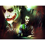 BATMAN THE JOKER HEATH LEDGER COMIC MOVIE CANVAS PRINT No.48 (**AMAZING QUALITY FRAMED ON THICK PINE FRAMES**) - 30 inch x 20 inch Stunning Gallery Framed Canvas Art Print Picture Poster, Ready To Hang New