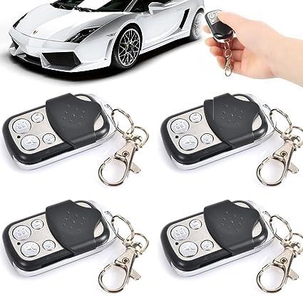 4 llaves de mandos universales para puerta de garaje; alarma ...