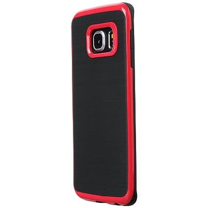 Ultratec Funda Protectora de TPU/Carcasa para Samsung S6 y S6 Edge con diseño de Contrastes y Borde de Color