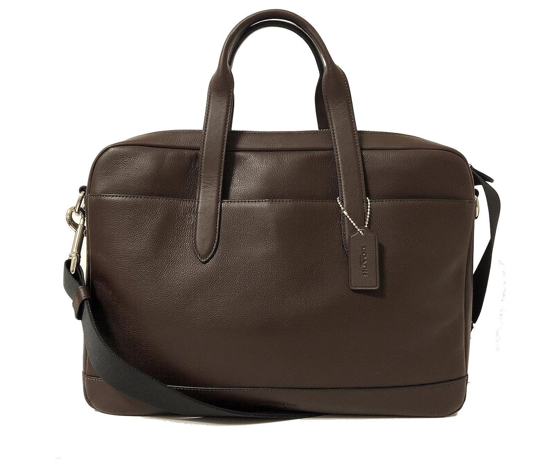 373ef8b91 Amazon.com: COACH Men's F54801 $450 Leather Hamilton Briefcase Crossbody  Laptop Bag, Mahogany: Clothing