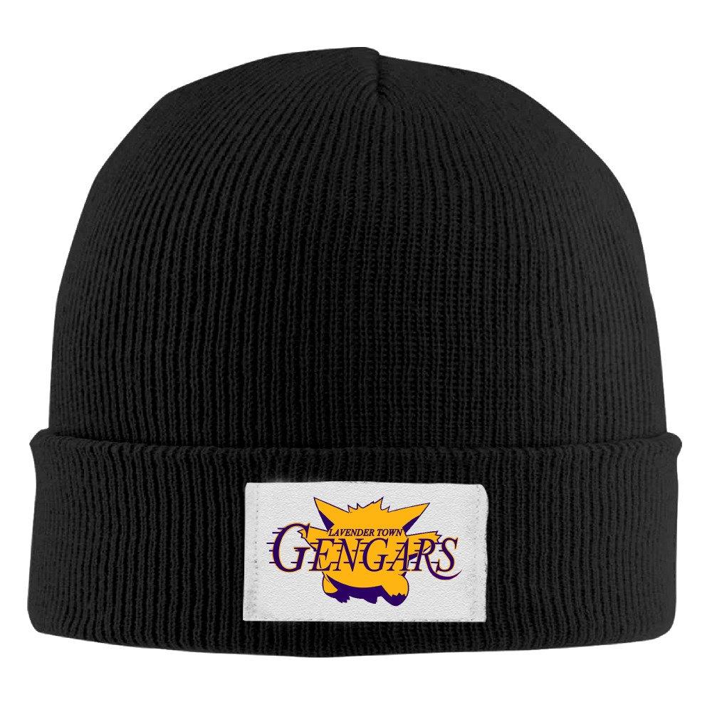 ポケットモンスターロゴラベンダーTown gengarsソフトウール帽子 One Size ブラック B01IOWW396