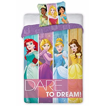 Parure de lit Princesse Raiponce Ariel Tiana Disney   Housse de