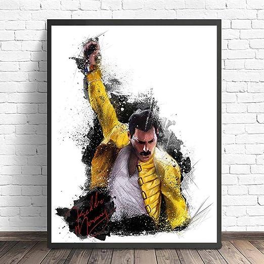 XuFan Freddie Mercury Queen HD Lienzo Pintura Impresión ...