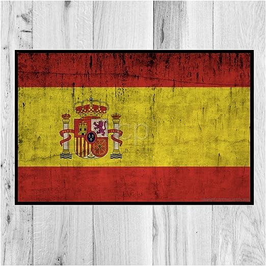 Côté Paillasson Felpudo Bandera España (40 x 60 cm): Amazon.es: Hogar