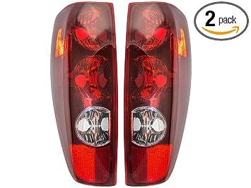2004-2012 Chevrolet/Chevy Colorado & GMC Canyon, 2006 Isuzu i-280 i-350, 2007-08 i-290, i-370 Taillight Taillamp Rear Brake Tail Light Lamp Pair Set ...