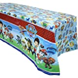 """3 Pack Paw Dog Patrol Themed Birthday Party Decorations – Disposable PAW Dog Patrol Plastic Tablecloth, 71.25 x51.96 """",Table Cover Party Supplies for Kids"""