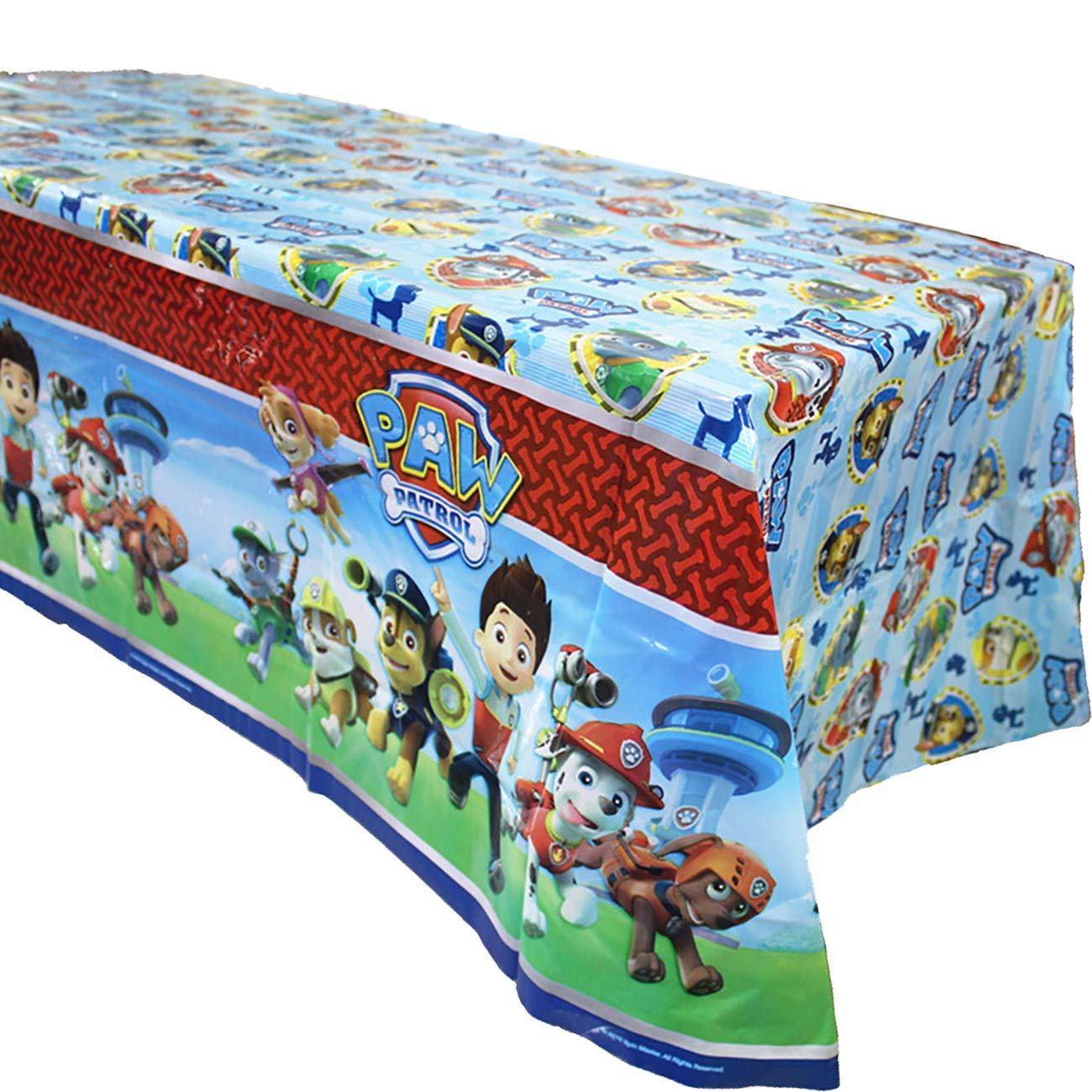 """3 Pack Paw Dog Patrol Themed Birthday Party Decorations Disposable PAW Dog Patrol Plastic Tablecloth 71.25 x51.96 /"""",Table Cover Party Supplies for Kids"""