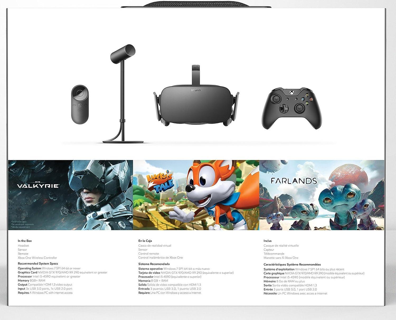 Gafas de realidad virtual Oculus y sus complementos