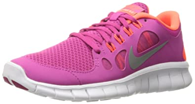 Nike Kids's NIKE FREE 5.0 (GS) RUNNING SHOES 4 Kids US (FSN PINK