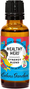 """Edens Garden Healthy Hero""""OK For Kids"""" Essential Oil Synergy Blend, 100% Pure Therapeutic Grade (Child Safe 2+, Allergies & Cold Flu) 30 ml"""