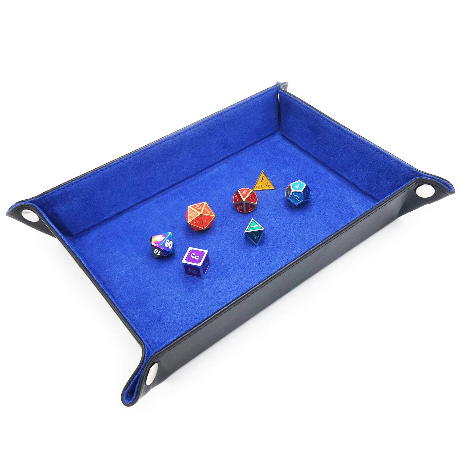 Haxtec DT01 DND Dice Tray PU Leather Folding Dice Tray Velvet RPG Table Games as DND SZ