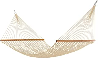 product image for Nags Head Hammocks NH14OT Extra-Wide Oatmeal Duracord Rope Hammock with Free Extension Chains & Tree Hooks, Handcrafted in The USA, Accommodates 2 People, 450 LB Weight Capacity, 13 ft. x 60 in.