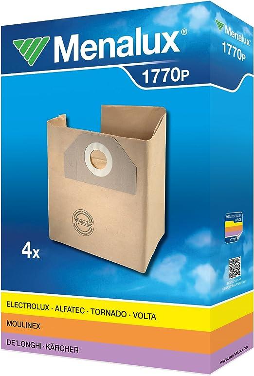 Menalux 1770 P - Bolsas de papel para aspiradoras Kärcher WD 3, WD 5 (4 unidades): Amazon.es: Hogar
