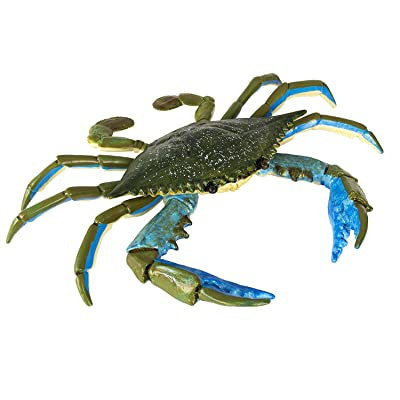 Safari Ltd. Incredible Creatures Blue Crab - Realistic Hand Painted Toy Figurine Model - Quality Construction from Phthalate, Lead and BPA Free Materials - For Ages 3 and Up: Toys & Games