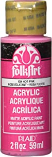 product image for FolkArt Acrylic Paint in Assorted Colors (2 oz), 634, Hot Pink
