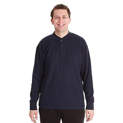 #followme Henley Thermal Shirt for Men Breathable Long Sleeve Shirt at Men's Clothing store