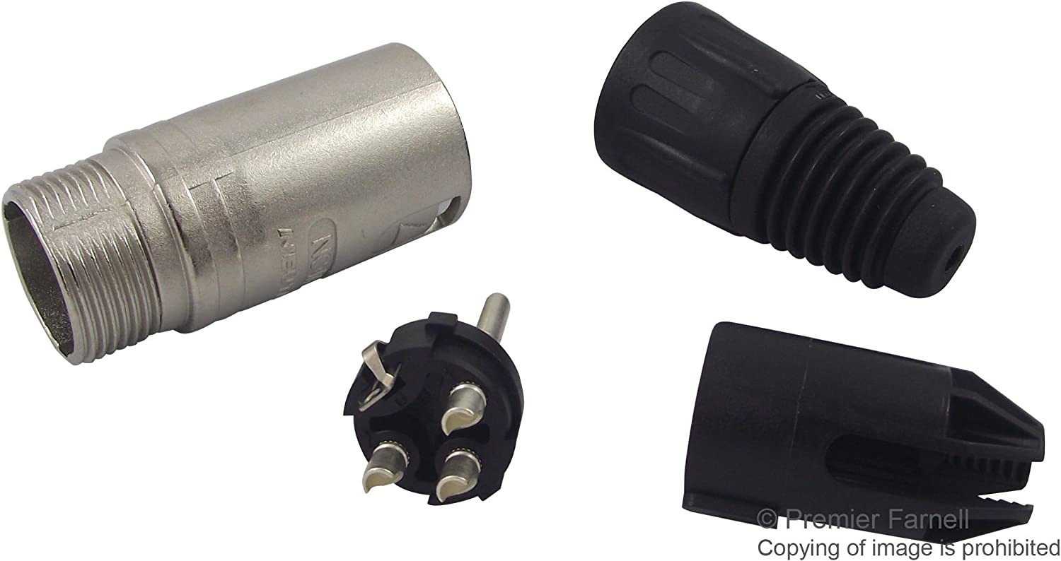 Nickel with Silver Contacts 20 Pack Neutrik NC3MXX Male XLR 3-Pin Connectors