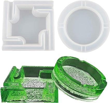 DIY Crystal Epoxy Eyelash Storage Box with Cover Reusable Silicone Mold