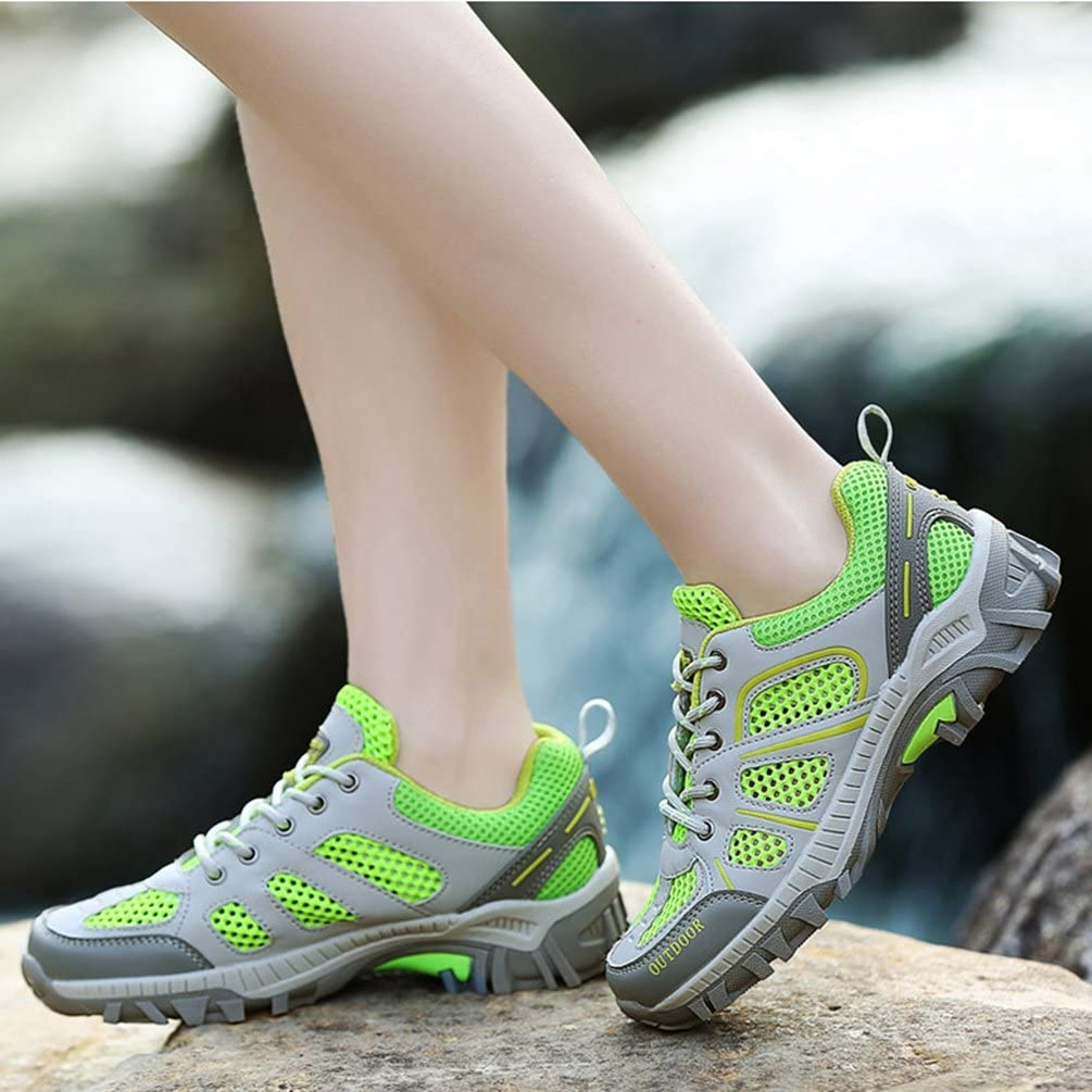 Qianliuk Mens Trainers Spring Summer Breathable Light Mesh for Men Sneakers Male Shoes Lover Casual Adult Walking Couples Shoes Green
