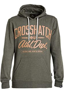 New Mens Crosshatch Pullover Raised Print Hoody Top Sweat Shirt Furline Hood