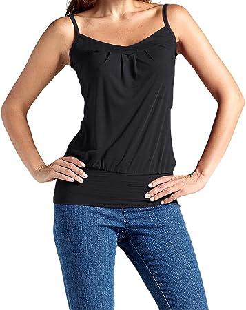 Camiseta de tirantes para mujer,Las mujeres del verano del tanque sin mangas atractivo del algodón Camis rematan la blusa del chaleco más tamaño LMMVP (L, Negro): Amazon.es: Hogar