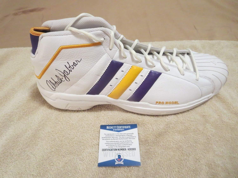Kareem Abdul Jabbar Magic Johnson Autographed Signed
