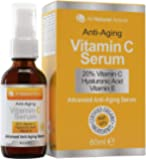 20% Vitamin C Serum - Made in Canada - Certified Organic + 11% Hyaluronic Acid + Vitamin E Moisturizer + Collagen Boost…