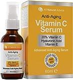 20% Vitamin C Serum - Made in Canada - Certified Organic + 11% Hyaluronic Acid + Vitamin E Moisturizer + Collagen Boost…