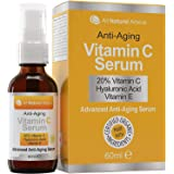 20% Vitamin C Serum Double the size - 2oz Bottle - Made in Canada All Natural 20% Vitamin C + Hyaluronic Acid + Vitamin E Ant