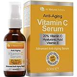 20% Vitamin C Serum - 60 ml / 2 oz Made in Canada - Certified Organic Ingredients + 11% Hyaluronic Acid + Vitamin E…