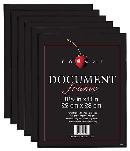 Amazon.com: MCS 8.5x11 Inch Format Frame 6-Pack, Black (65609): Home ...