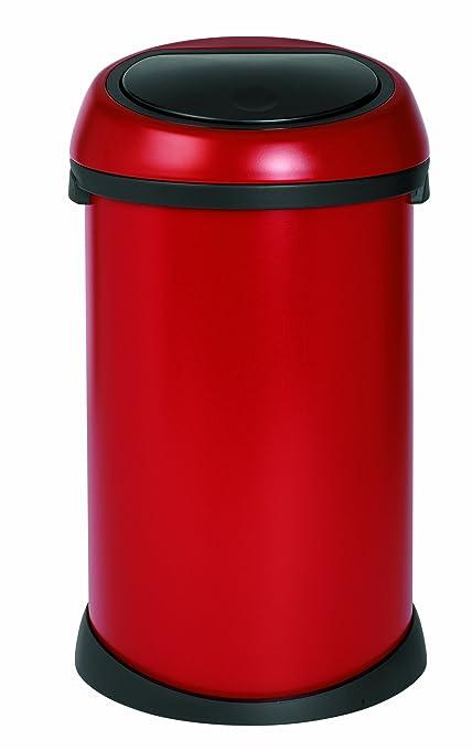 Brabantia Touch Bin 40 50 Liter.Brabantia Touch Bin 50 L Deep Red