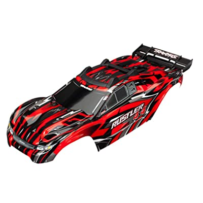 Traxxas TRA6718 Body, Rustler 4X4, Red: Toys & Games
