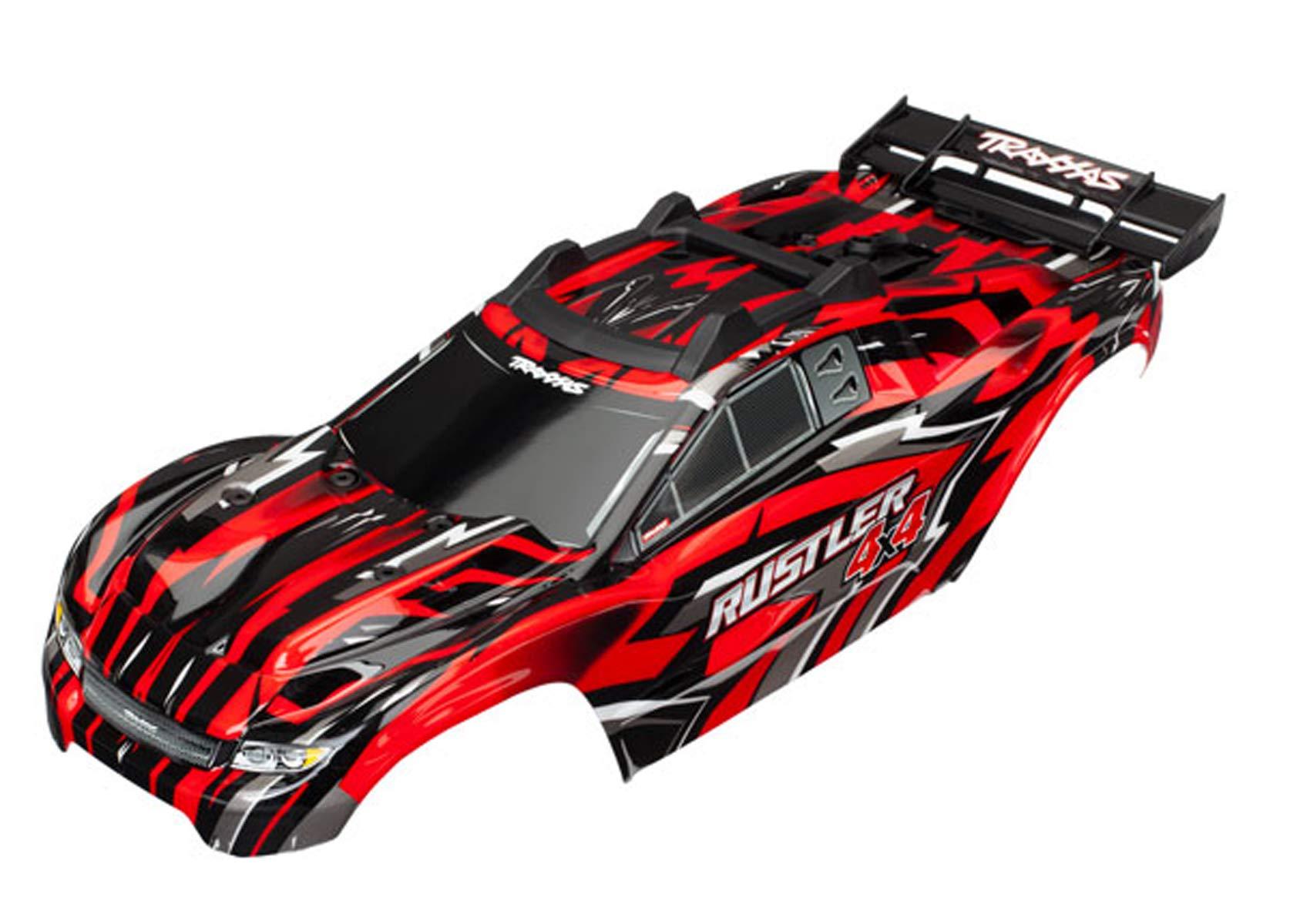 Traxxas TRA6718 Body, Rustler 4X4, Red
