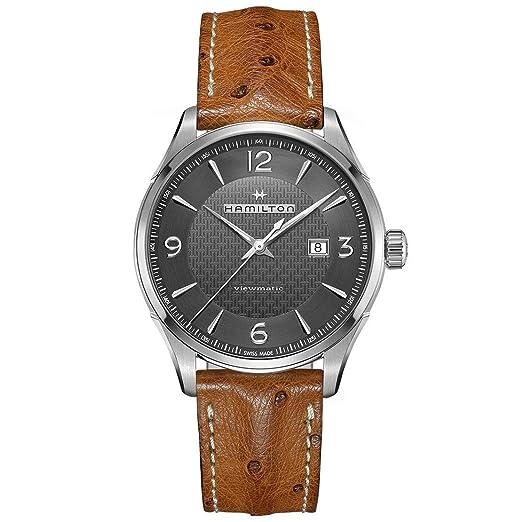 b37ccf410208 Hombres de piel de Hamilton Jazzmaster Viewmatic Automático Reloj  h32755851  Amazon.es  Relojes