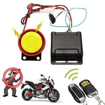 Ducomi® Defender - Kit de alarma antirrobo para moto 2 seguridad con mando a distancia universal para sistema de alarma supervisar y protege tus ...