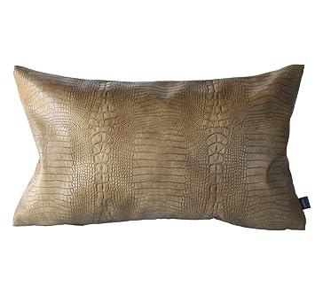 Amazon.com: Kdays - Funda de cojín de piel sintética gruesa ...