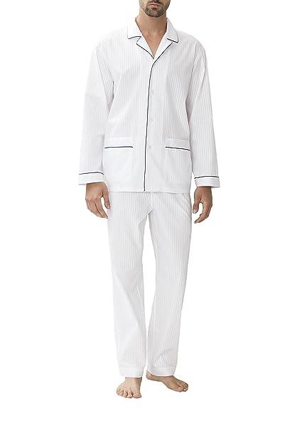 Zimmerli of Switzerland - Pijama - Rayas - para hombre blanco blanco