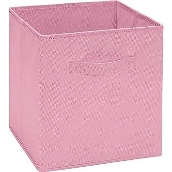 Ameriwood Fabric Storage Bin   Pastel Pink