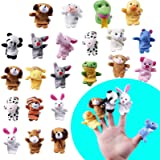 MOLECOLE 22 pcs Soft Plush Animal Finger Puppets Set Baby Story Time for Easter Theme Party Favor