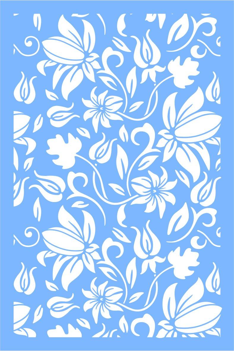 Stencil effetto tappezzeria floreale Z41 - formato cm.60x90 F.lli Gregorio