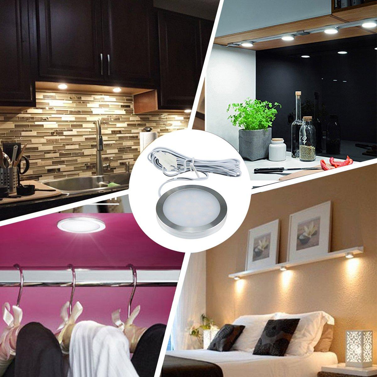 Ultra Slim 12v Puck Lights For Hallway 6 Packs Double K Light Double K Under Cabinet