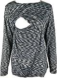 Chulianyouhuo Breastfeeding Shirt Striped Patchwork Long Sleeve Maternity Breastfeeding and Nursing Tops